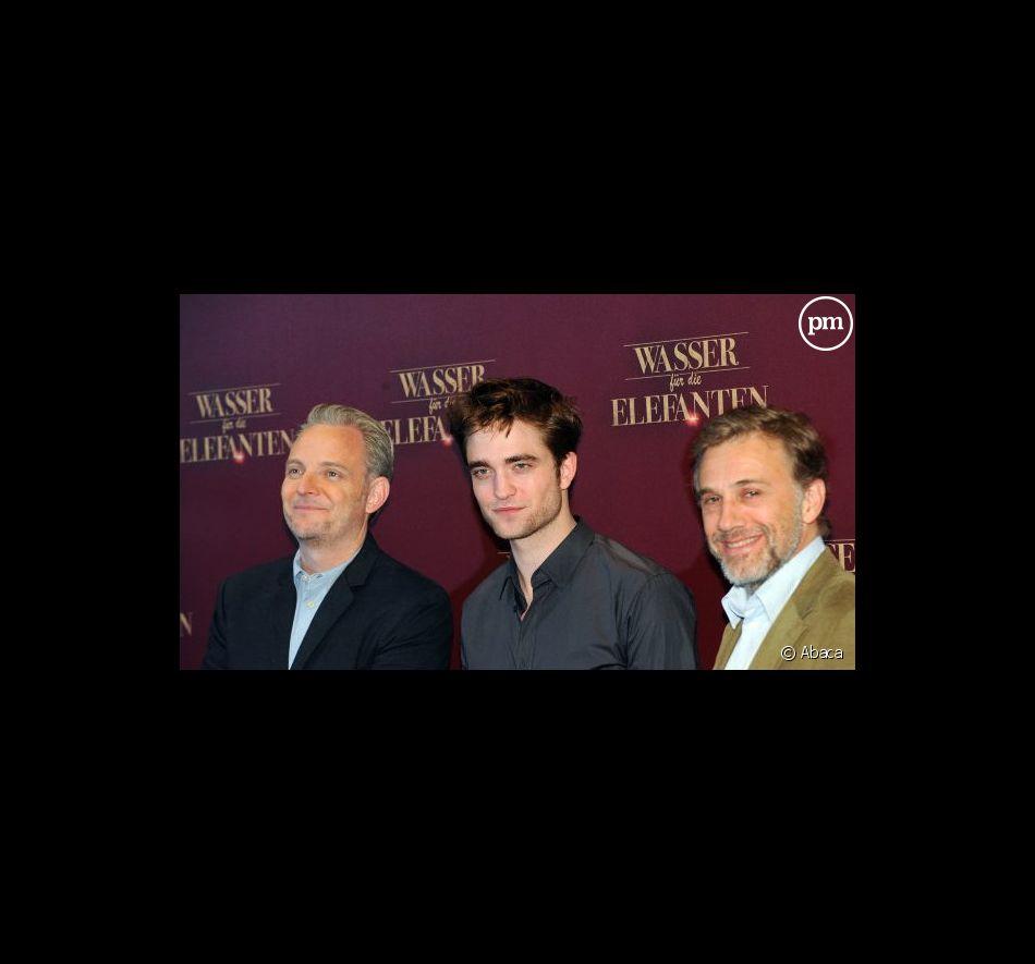 """Francis Lawrence et l'équipe du film """"De l'eau pour les éléphants"""""""