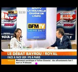 Ségolène Royal et François Bayrou, le 28 avril 2007 sur...