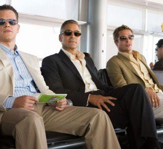 Matt Damon, George Clooney et Brad Pitt dans 'Ocean's...