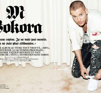 M. Pokora pose pour le magazine gay Têtu.