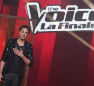 Stéphan Rizon sur le plateau de la finale de 'The Voice'