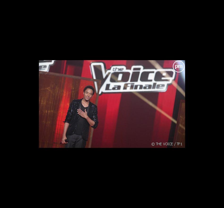 """Stéphan Rizon sur le plateau de la finale de """"The Voice"""""""