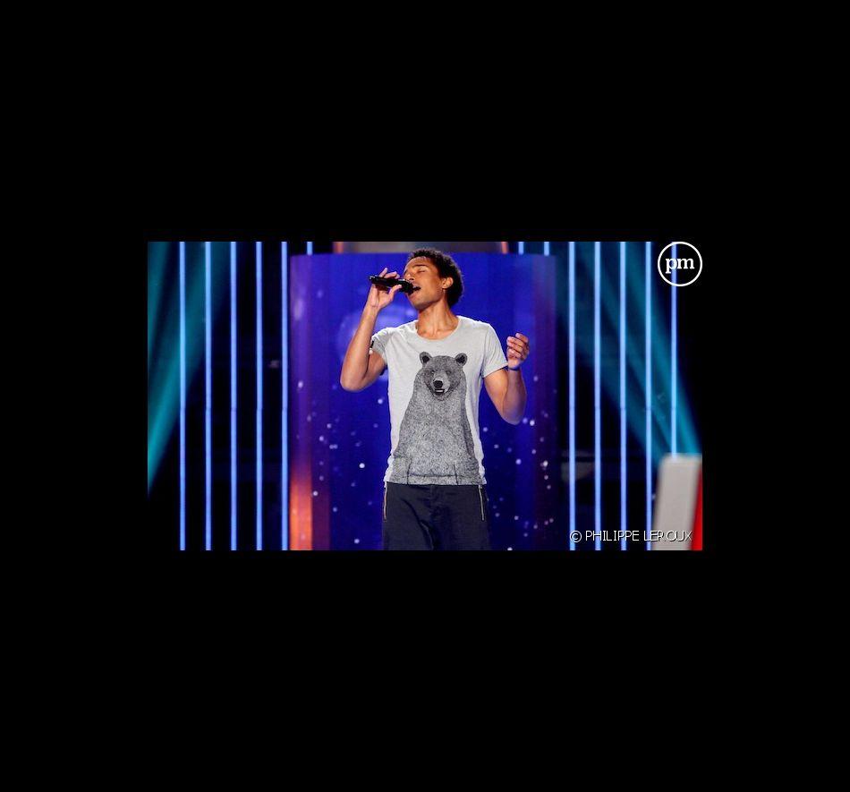 """Stéphan Rizon lors des auditions à l'aveugle de """"The Voice"""""""
