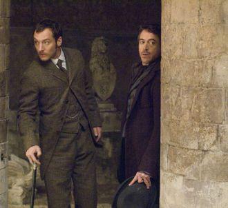 Jude Law et Robert Downey, Jr. dans 'Sherlock Holmes'