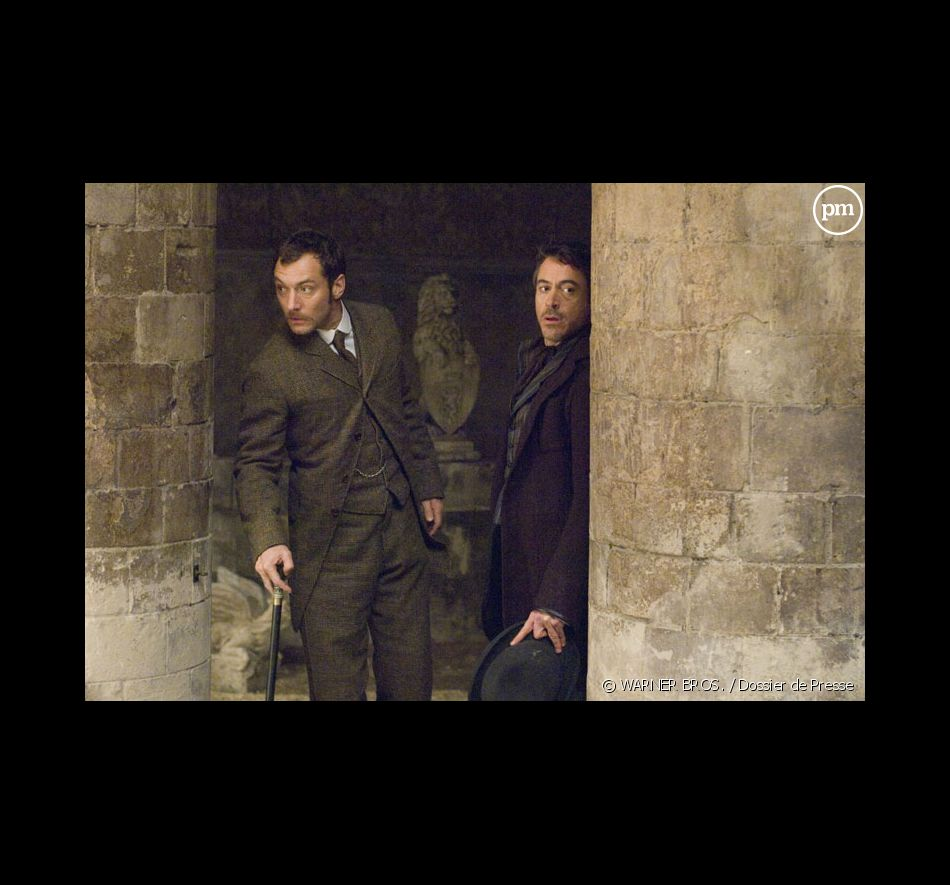 """Jude Law et Robert Downey, Jr. dans """"Sherlock Holmes"""""""