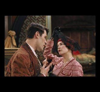 Jalil Lespert et Audrey Tautou dans 'Pas sur la bouche'.
