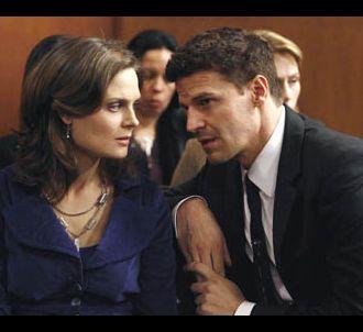 Emily Deschanel et David Boreanaz dans 'Bones'