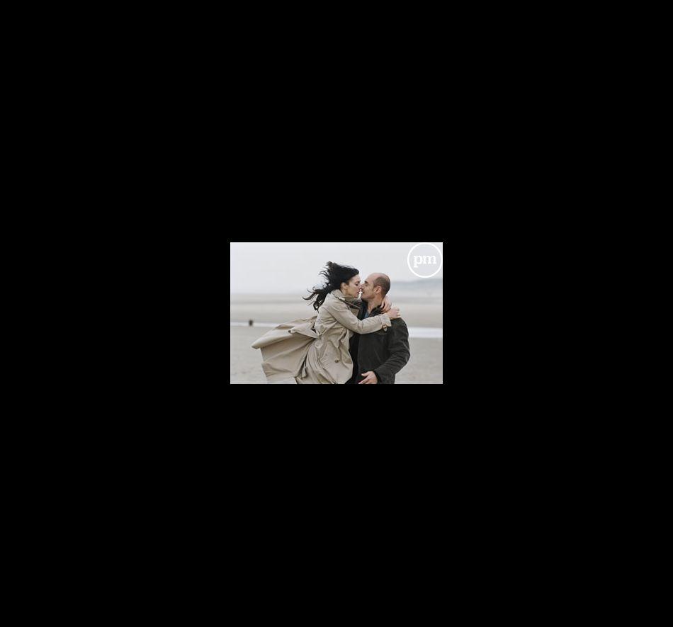 "Monica Bellucci et Bernard Campan dans ""Combien tu m'aimes ?""."