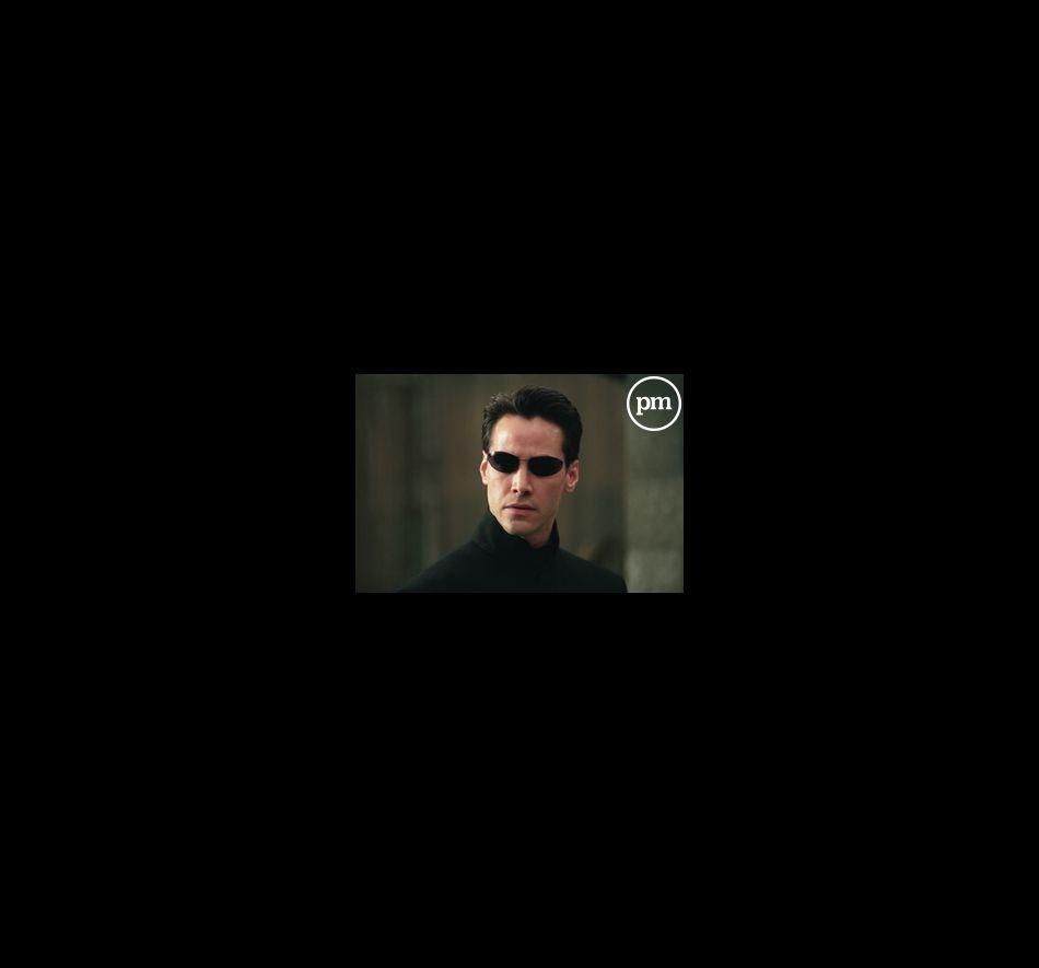 "Keanu Reeves dans ""Matrix Reloaded""."