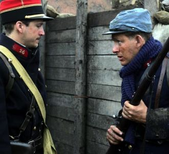 Guillaume Canet et Dany Boon dans 'Joyeux Noël'.