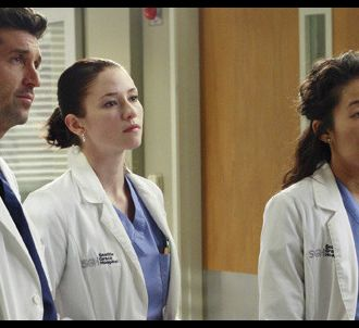 Patrick Dempsey, Chyler Leigh et Sandra Oh dans 'Grey's...