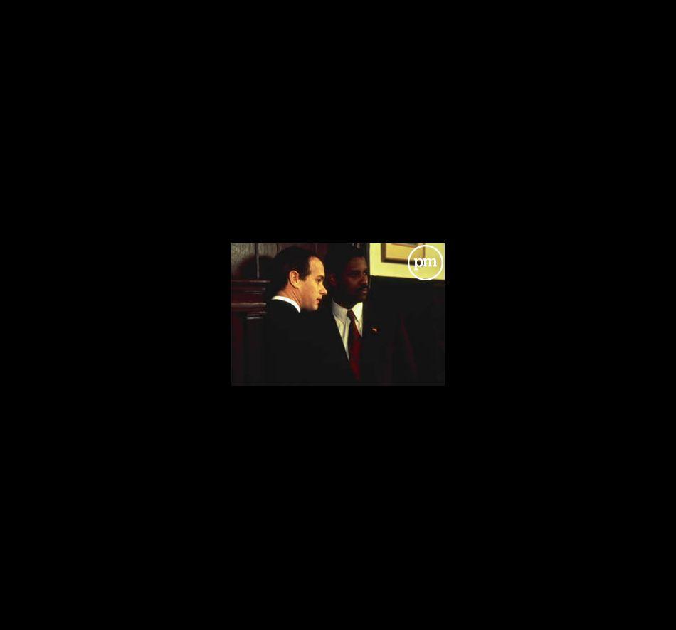 """Tom Hanks et Denzel Washington dans """"Philadelphia"""""""
