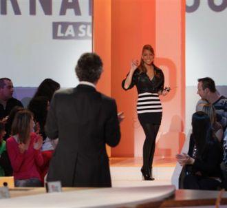 Mariah Carey, en promotion à Paris sur le plateau du...