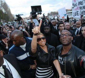 Mariah Carey, en promotion à Paris.