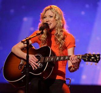 Brooke White sur le plateau d'American Idol