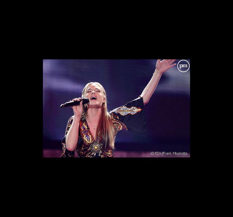 Kristy Lee Cook sur le plateau d'American Idol