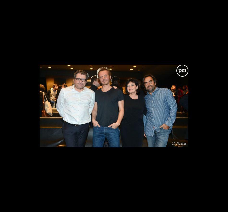 Le jury de Nouvelle Star : Olivier Bas, Sinclair, Maurane et André Manoukian