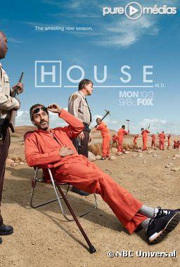 """Affiche promotionnelle américaine de """"Dr House"""" saison 8"""