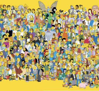 Tous les personnages de la série Les Simpson, lors de la...