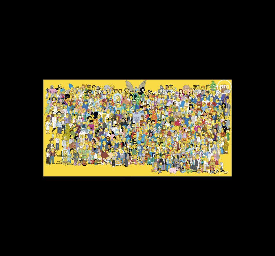 Tous les personnages de la série Les Simpson, lors de la saison 22