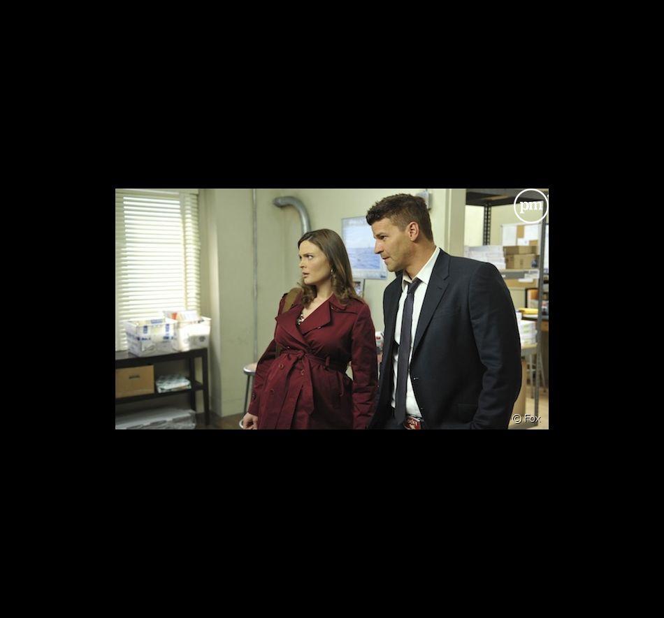 """Emily Deschanel et David Boreanaz dans la saison 7 de """"Bones"""""""