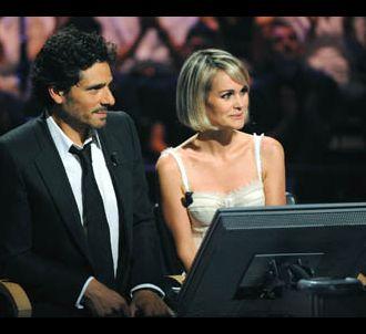 Pascal Elbé et Laeticia Hallyday dans 'Qui veut gagner...