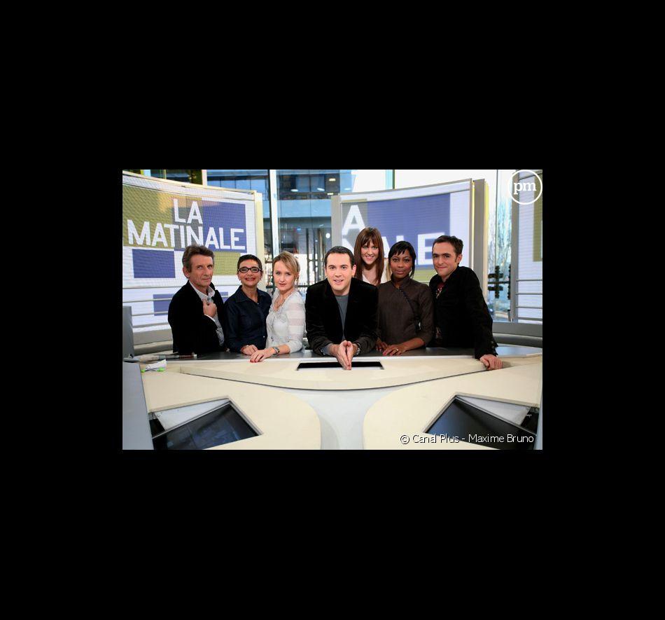 """L'équipe de """"La Matinale"""" sur Canal +."""