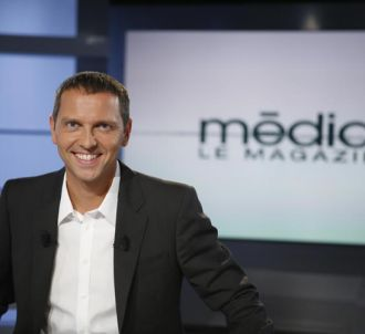 Thomas Hugues sur le plateau de 'Médias, le magazine'